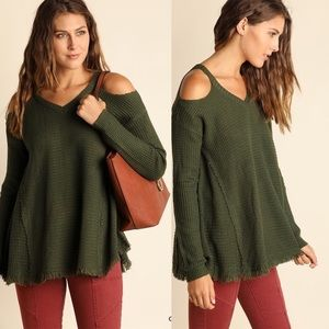 ELYSE Knit Sweater - OLIVE
